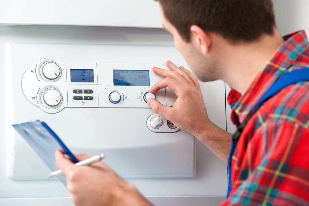 Heating repair contractor servicing the gas boiler for hot water & heating in Polk County, IA